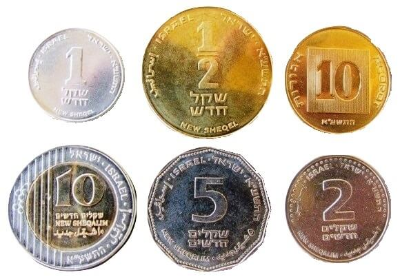 Israel has 6 main coin denominations