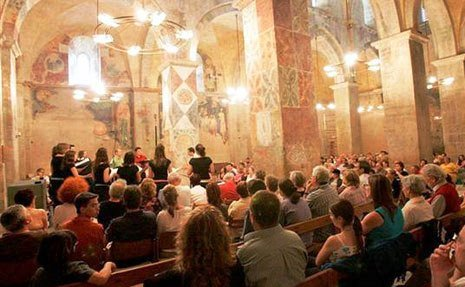abu ghosh vocal music festival is held twice year in abu ghosh churches