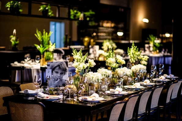 An event in Israel beautiful table setting