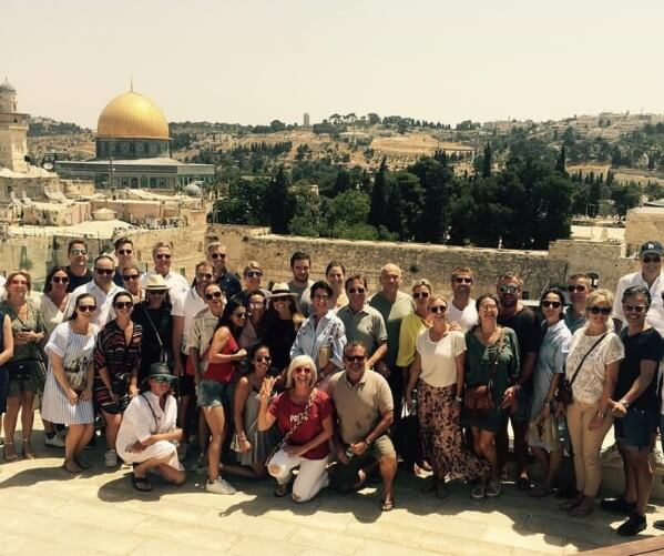 tour of Jerusalem for the wedding party before the event in Israel