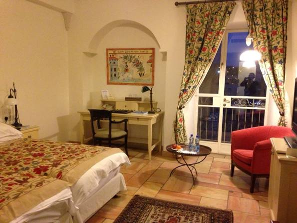 a room at the luxurious American Colony Hotel in East Jerusalem