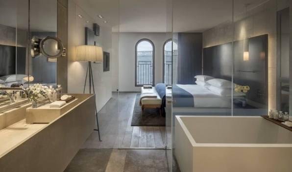 modern design in Mamilla Hotel Jerusalem room