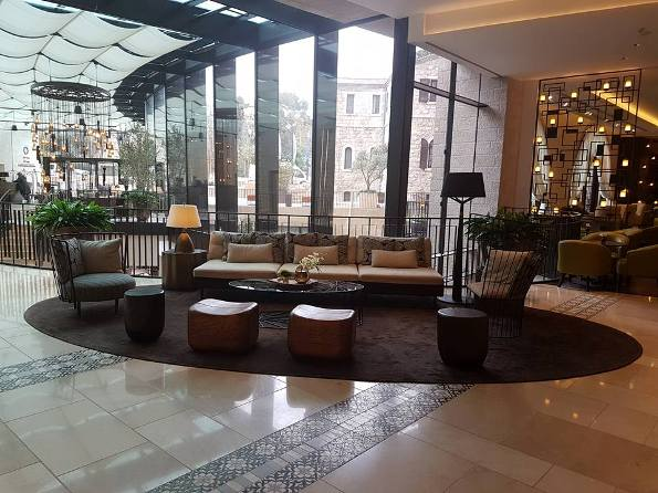 lobby of the new Orient Isrotel Hotel in Jerusalem