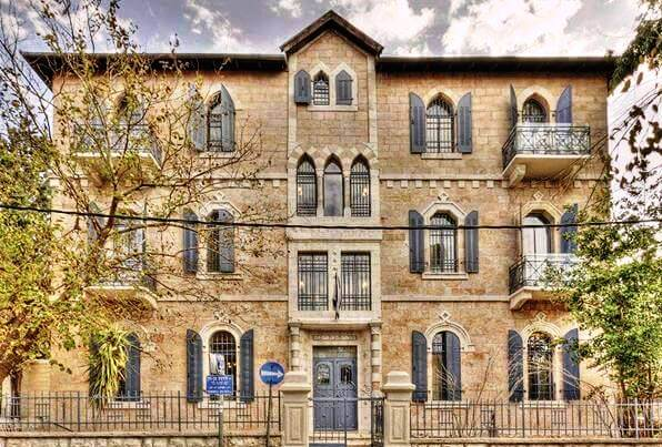 Villa BaMoshava boutique hotel is situated in a historic landmark building in Jerusalem's German Colony
