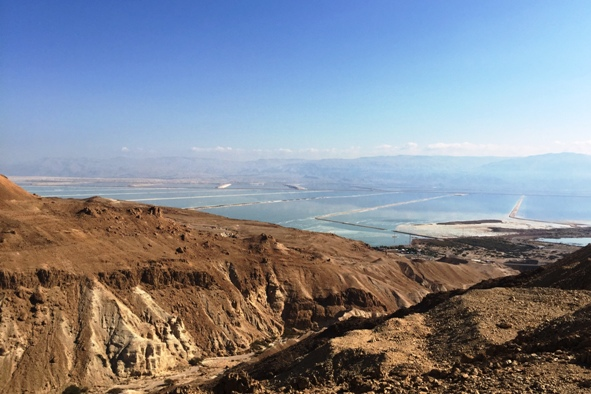 Israel Masada with a view of the Dead Sea and Judean Desert