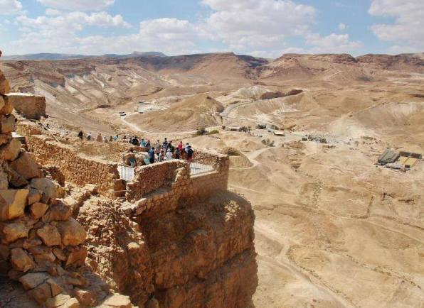 Israel Masada National Park with a breathtaking view of the Judean desert