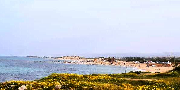 Beaches lining the Israel Mediterranean coastline