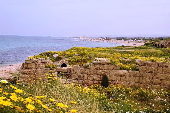 Israel Trail along the Mediterranean Sea near Caesarea