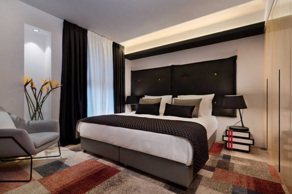 bedrooms at the 21st Floor 360 Suitop Boutique Hotel in Jerusalem