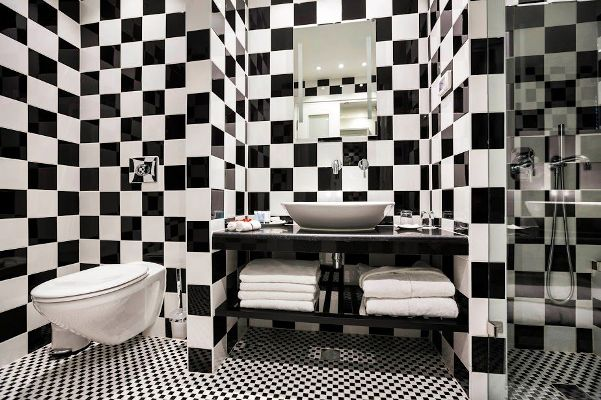 fun designs in Harmony boutique hotel rooms and bathrooms