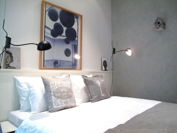 original Israeli artwork and decor in Jerusalem's Bezalel boutique hotel guest rooms