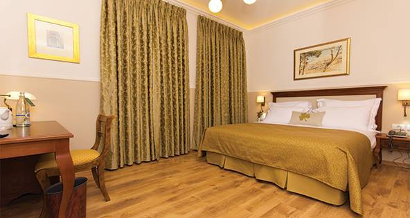 rooms with traditional furniture at the Villa BaMoshava boutique hotel in Jerusalem