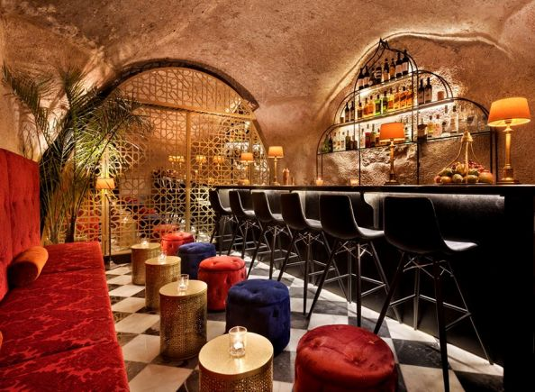 Cave Bar, a cool underground bar in the Villa Brown Hotel in Jerusalem