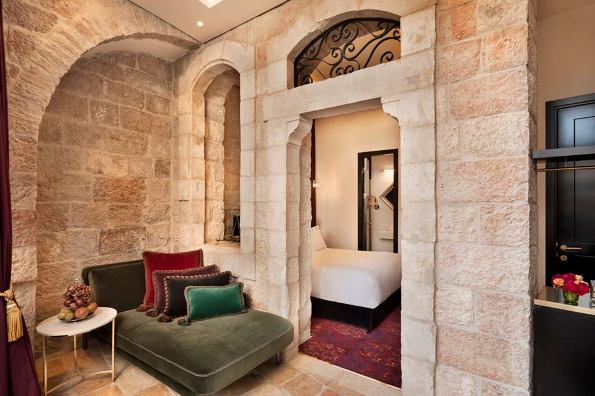 guest room at the Villa Brown boutique hotel in Jerusalem