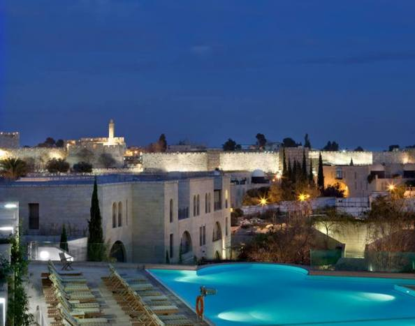 view of the Tower of David from the David Citadel Hotel in Jerusalem