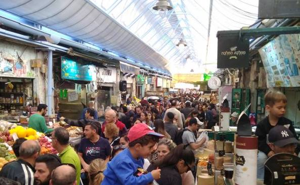 Mahane Yehuda Open-Air market in Jerusalem