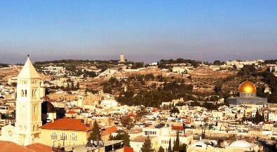 Vista of the Holy Sites of Jerusalem