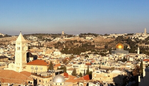 View of the Holy City of Jerusalem