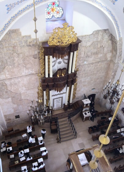 hurva synagogue, the ruined synagogue in the jewish quarter of the old city of jerusalem