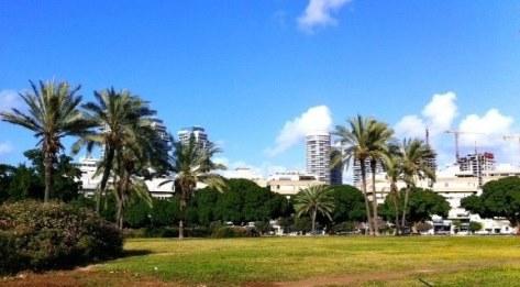 Kikar Hamedina in Tel Aviv. Not just for posh shopping but a fun, green oasis!