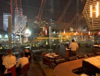 great views of Tel Aviv at Uno Restaurant in Tel Aviv for kosher dairy Italian food