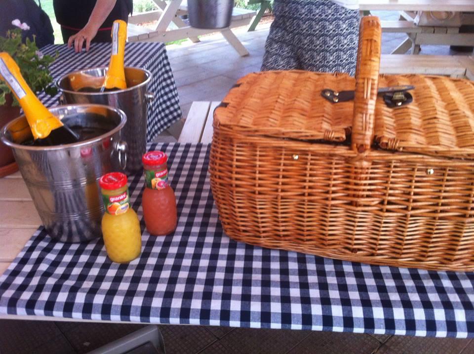 picnic basket at Little Italy at Sarona