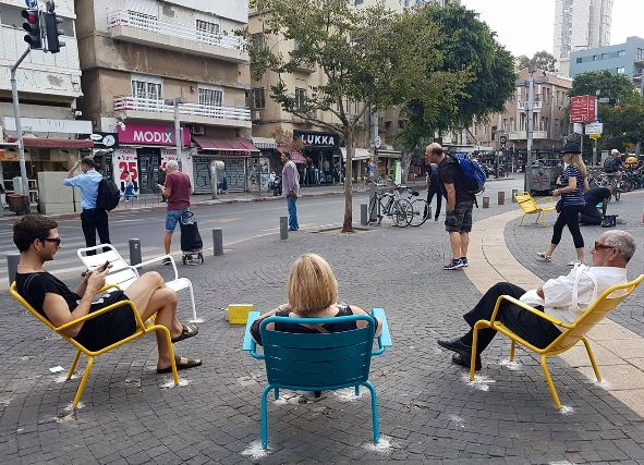 Magen David Square on Allenby Street in Tel Aviv