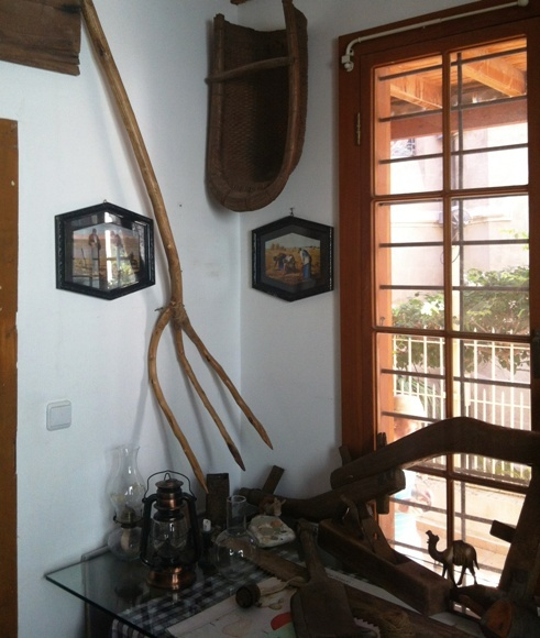 Original tools of the settlers at the Maine Friendship House of the American Colony in Tel Aviv