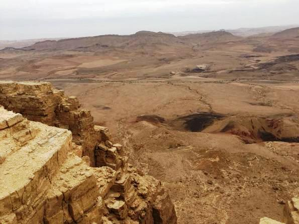 the Makhtesh Ramon Crater in the Negev Desert in Israel