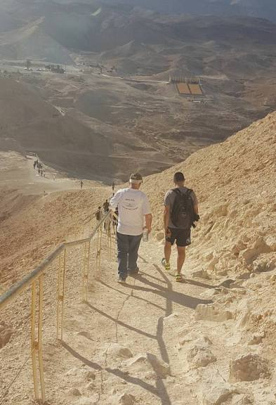 Snake Path at Masada National Park, Israel