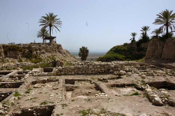 Ruins of the Ancient City of Megiddo Strategically located on the ancient Via Maris