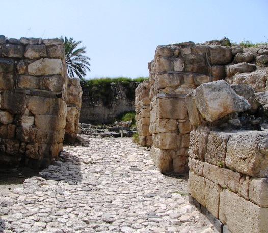 Megiddo biblical archaeology - gates and citadel of Solomon