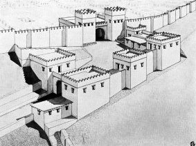 reconstruction of how Megiddo looked in ancient times