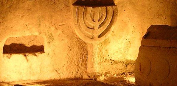 the Menorah cave in Beit Shearim