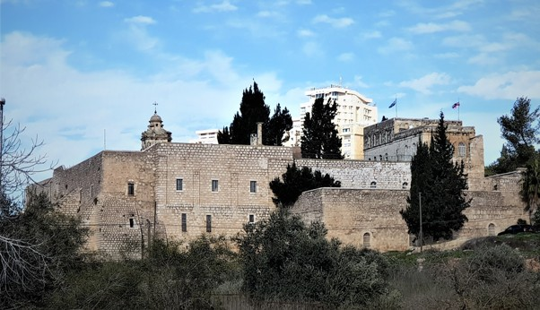 view of the Monastery of the Cross in Jerusalem