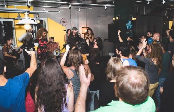 music and parties at the Post Hostel in Jerusalem