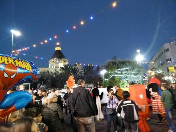 christmas eve at nazareth near the anunciation church