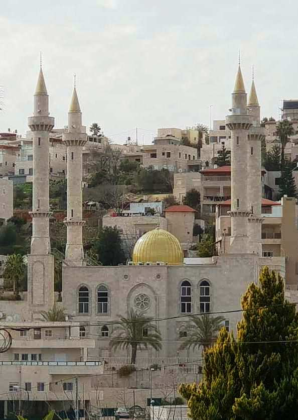 the New Akhmad Kadyrov Mosque in Abu Ghosh