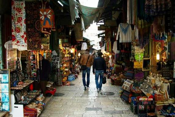 Shuk (market) in the Muslim Quarter Old City of Jerusalem