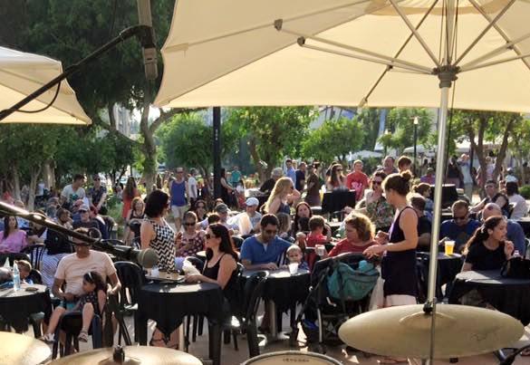 outdoor dining in Tel Aviv's Sarona complex Little Italy