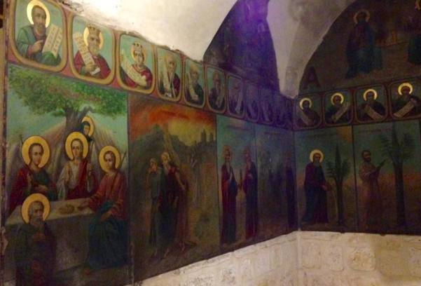 paintings depicting the history of the holy tree from which the cross was made in the monastery of the holy cross