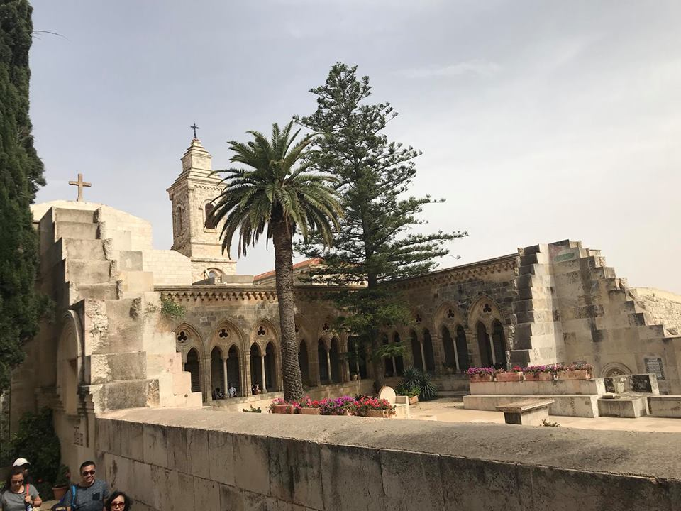 the beautiful Paster Noster Monastery and Church on Mount Olives in Jerusalem