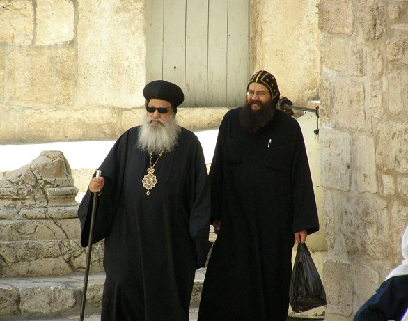 Priests in Jerusalem on Christmas