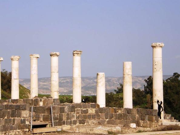 Roman Pillars in Beit She'an Israel