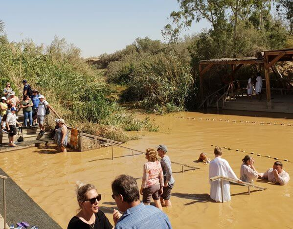 Qasr el Yehud baptism site on the Jordan River between Jerusalem and the Dead Sea