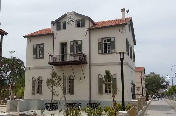 the renovated community hall in Sarona Tel Aviv