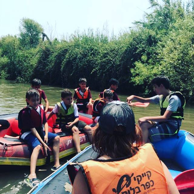 River rafting on one of the rivers in the upper Galilee of Israel