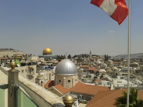rooftop view from the Austrian Hospice in the old city of Jerusalem