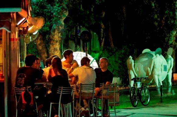 Rothschild Blvd at night, the heart of Tel Aviv
