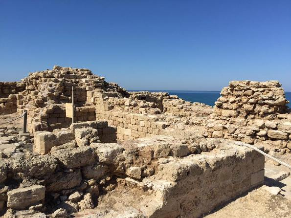 Crusader ruins at Arsuf or Appolonia National Park